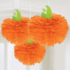 pumpkin-fluffy-hanging-decoration