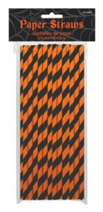 Halloween-black-and-orange-striped-straws